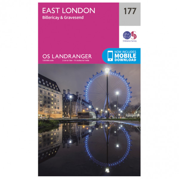 Ordnance Survey - East London / Billericay / Gravesend - Vandrekort