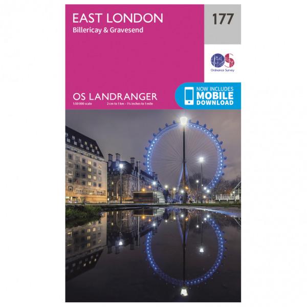 Ordnance Survey - East London / Billericay / Gravesend - Wandelkaart