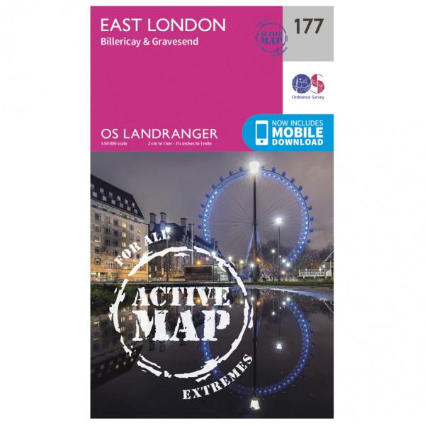 Ordnance Survey - East London / Billericay / Gravesend Waterproof - Wandelkaarten