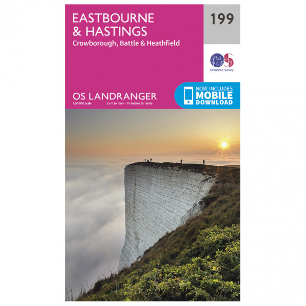 Ordnance Survey - Eastbourne / Hastings - Vandringskartor