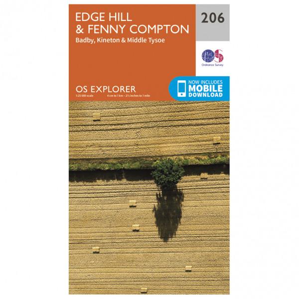 Ordnance Survey - Edge Hill / Fenny Compton - Vandringskartor