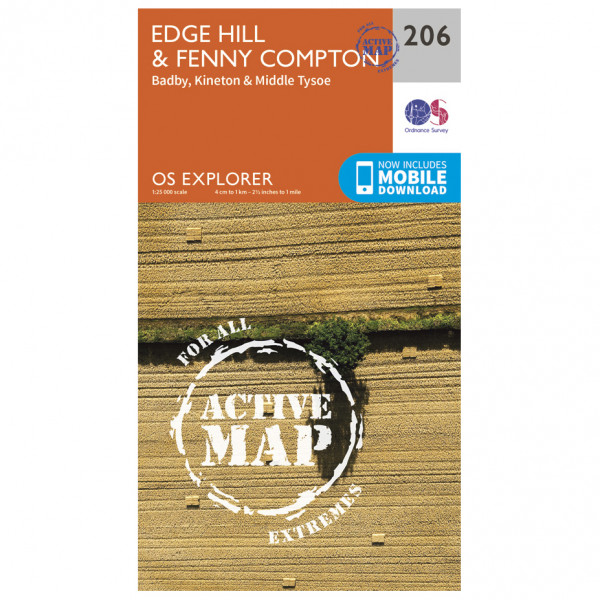 Ordnance Survey - Edge Hill / Fenny Compton Waterproof - Hiking map