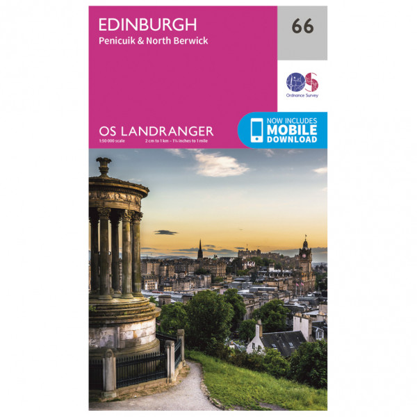 Ordnance Survey - Edinburgh - Vandrekort
