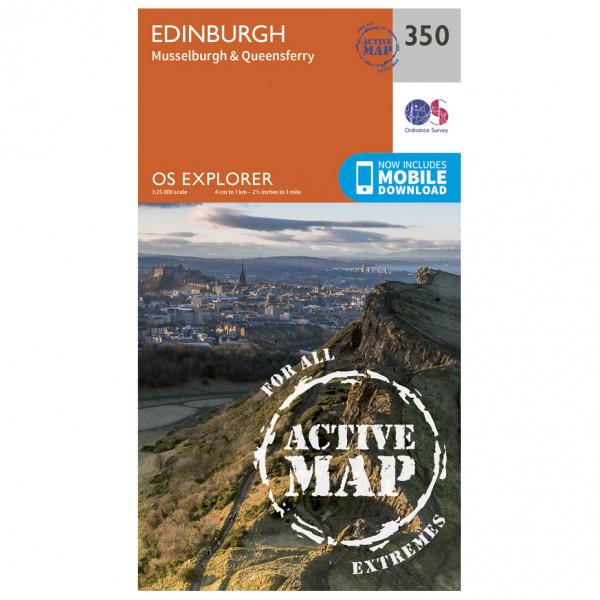 Ordnance Survey - Edinburgh / Musselburgh / Queensferry Waterproof EXPL350 - Wanderkarte