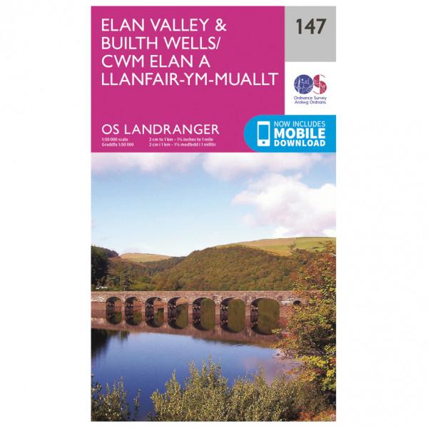 Ordnance Survey - Elan Valley / Builth Wells - Vaelluskartat