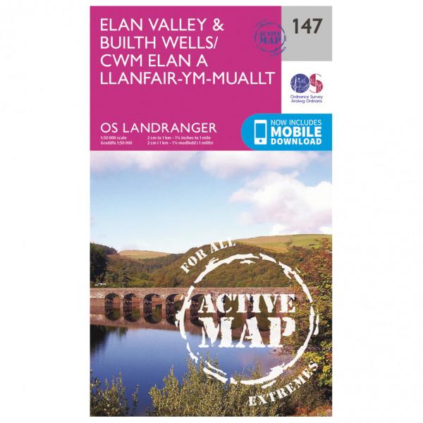 Ordnance Survey - Elan Valley / Builth Wells Waterproof - Wandelkaarten