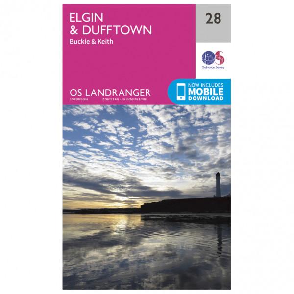 Ordnance Survey - Elgin / Dufftown - Vandrekort