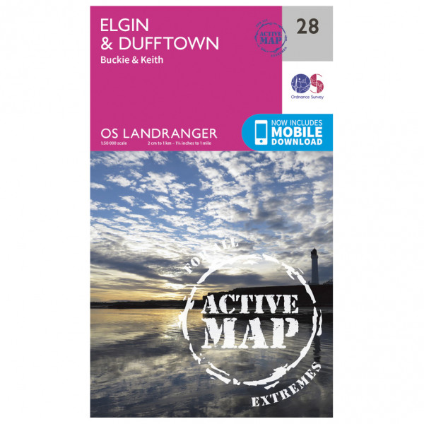 Ordnance Survey - Elgin / Dufftown Waterproof - Vaelluskartat