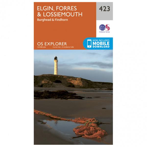 Ordnance Survey - Elgin / Forres / Lossiemouth - Wandelkaart