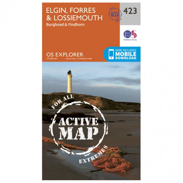 Ordnance Survey - Elgin / Forres / Lossiemouth Waterproof EXPL423 - Wanderkarte