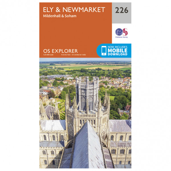 Ordnance Survey - Ely / Newmarket / Mildenhall / Soham - Wandelkaarten