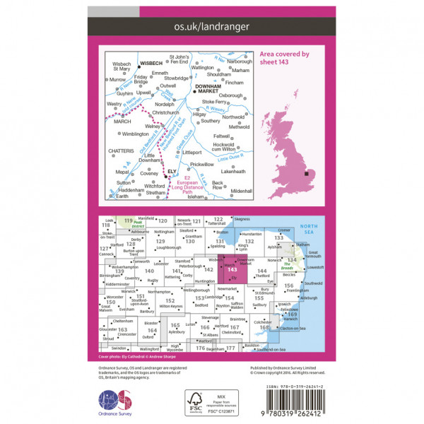 Ely / Wisbech - Hiking map