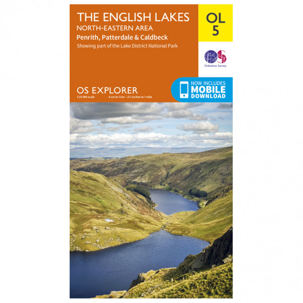 Ordnance Survey - English Lakes - North Eastern Area Outdoor - Hiking map