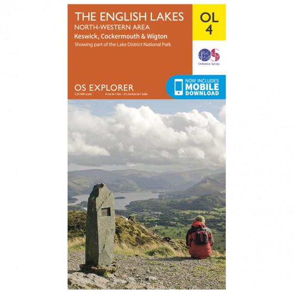 Ordnance Survey - English Lakes - North Western Area Outdoor - Hiking map