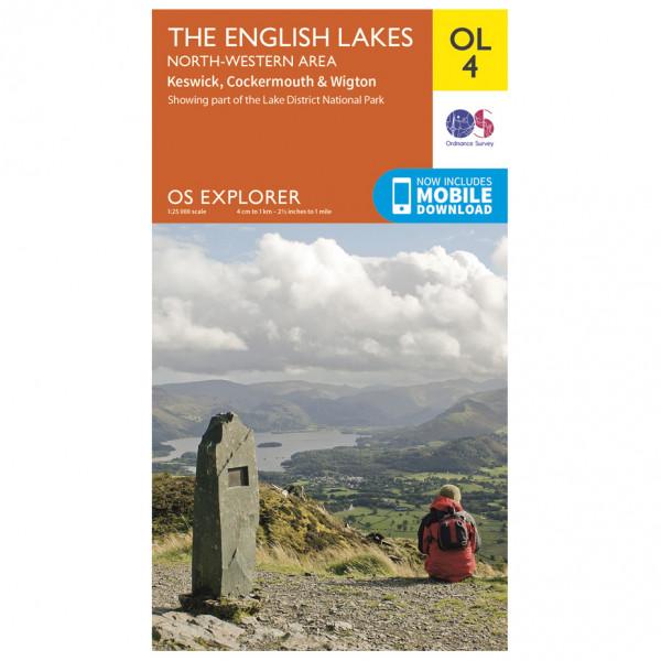 Ordnance Survey - English Lakes - North Western Area Outdoor - Wandelkaart
