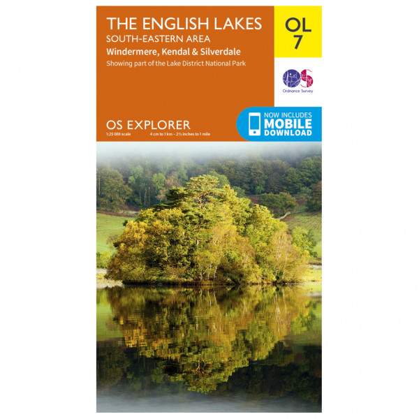 Ordnance Survey - English Lakes - South Eastern Area Outdoor - Hiking map
