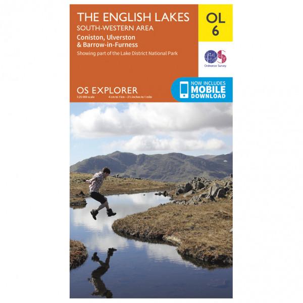 Ordnance Survey - English Lakes - South Western Area Outdoor - Wandelkaart