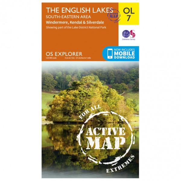 Ordnance Survey - English Lakes / South Eastern Area Waterproof - Vaelluskartat