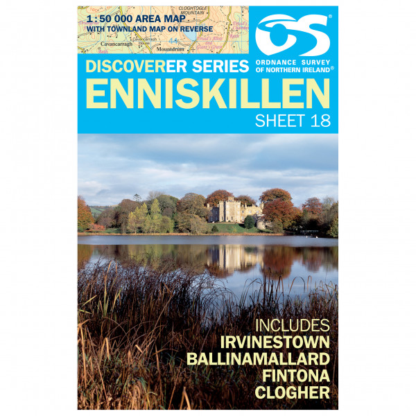 Ordnance Survey - Enniskillen (Irvinestown,Ballinamallard) - Hiking map