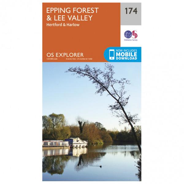 Ordnance Survey - Epping Forest / Lee Valley - Carte de randonnée