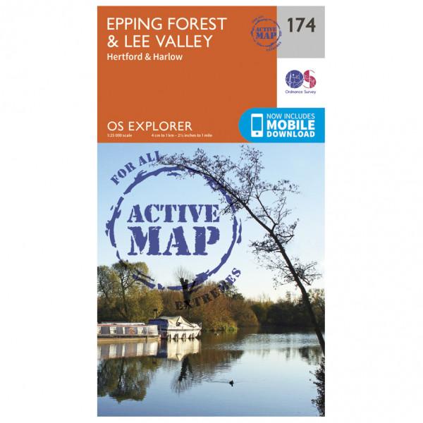 Ordnance Survey - Epping Forest / Lee Valley Waterproof EXPL174 - Wanderkarte