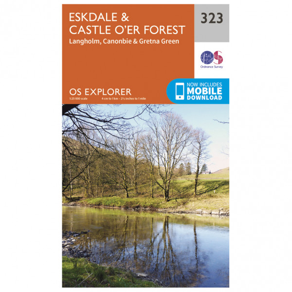 Ordnance Survey - Eskdale / Castle O'Er Forest EXP323 - Wanderkarte