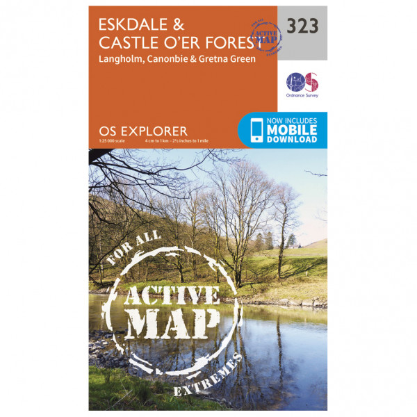 Ordnance Survey - Eskdale / Castle O'Er Forest Waterproof - Hiking map