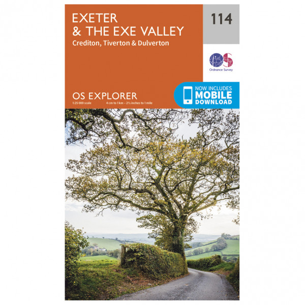 Ordnance Survey - Exeter / Exe Valley - Vandrekort