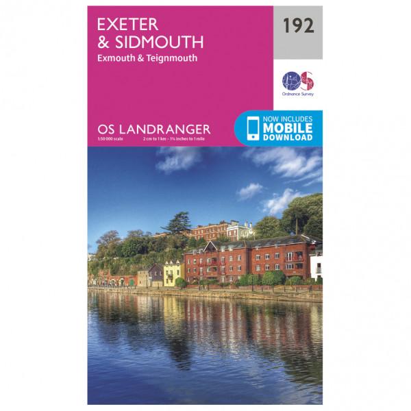 Ordnance Survey - Exeter / Sidmouth - Vandrekort