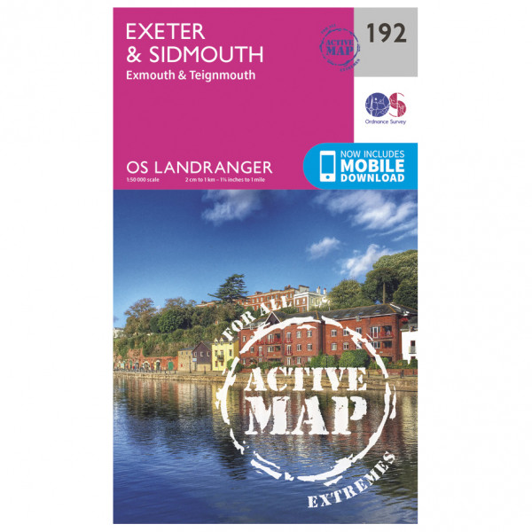 Ordnance Survey - Exeter / Sidmouth / Exmouth Waterproof - Vandrekort