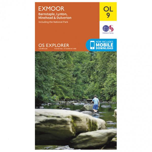 Ordnance Survey - Exmoor Outdoor - Vandrekort