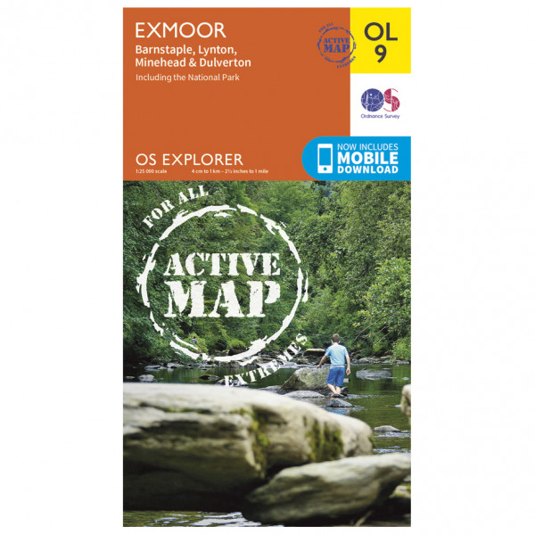Ordnance Survey - Exmoor Waterproof - Hiking map