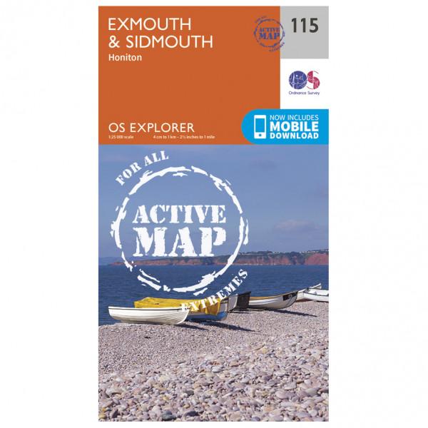 Ordnance Survey - Exmouth & Sidmouth Waterproof - Wandelkaarten