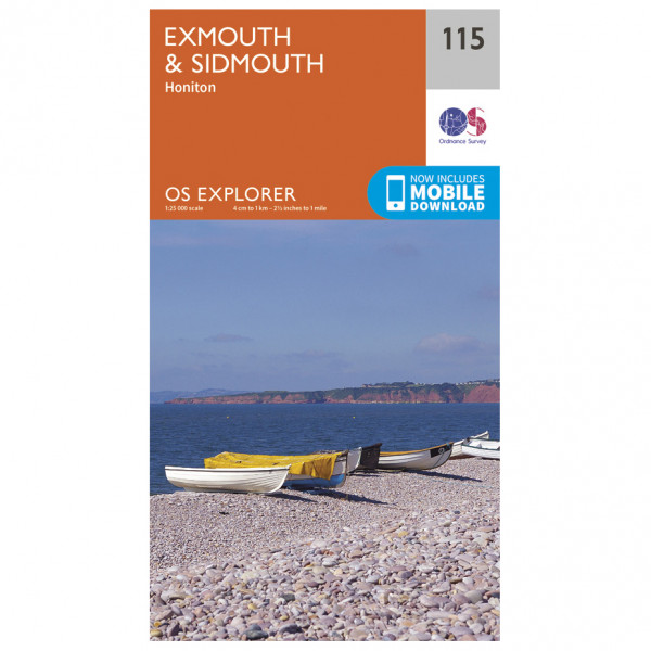 Ordnance Survey - Exmouth / Sidmouth - Hiking map