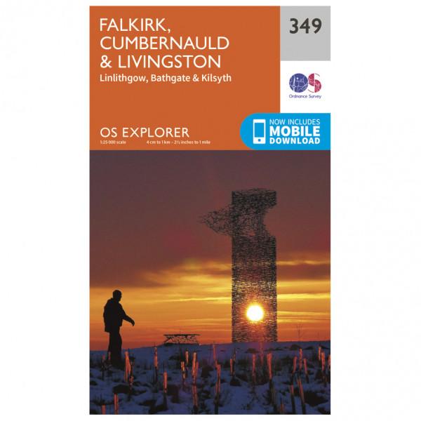 Ordnance Survey - Falkirk / Cumbernauld / Livingston EXP349 - Wanderkarte