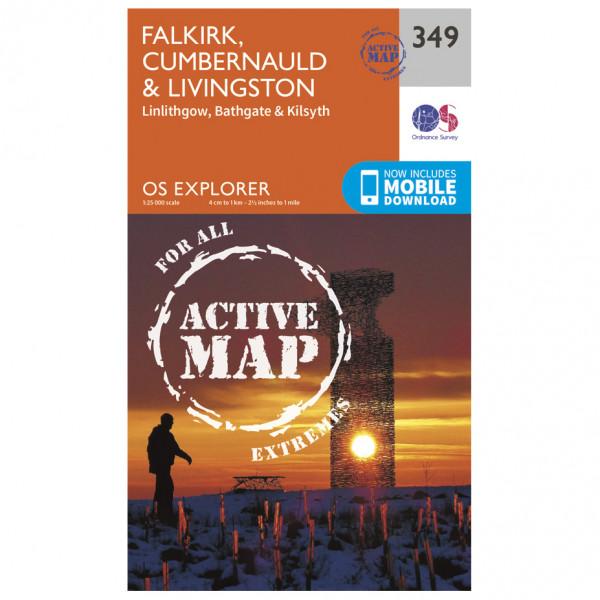 Ordnance Survey - Falkirk / Cumbernauld / Livingstone Waterproof - Wandelkaarten
