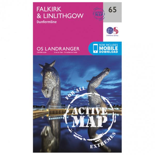 Ordnance Survey - Falkirk / Linlithgow Waterproof - Vandringskartor