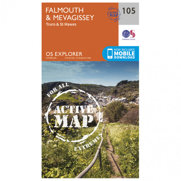 Ordnance Survey - Falmouth & Mevagissey Waterproof - Hiking map