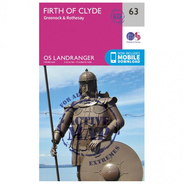 Ordnance Survey - Firth Of Clyde Waterproof - Vandringskartor