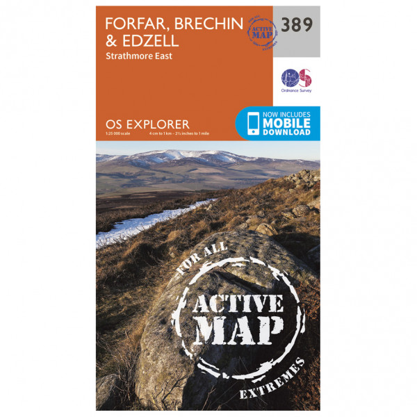 Ordnance Survey - Forfar / Brechin / Edzell Waterproof - Hiking map