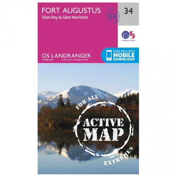 Ordnance Survey - Fort Augustus Waterproof LA034 - Wanderkarte