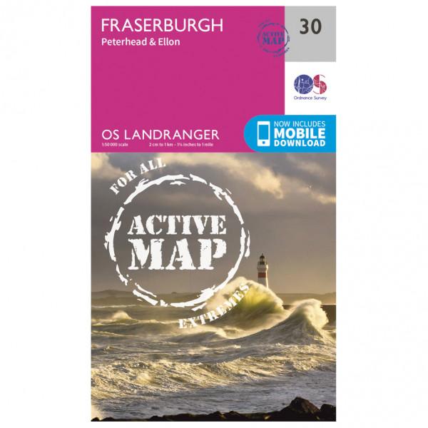 Ordnance Survey - Fraserburgh Waterproof - Vandrekort