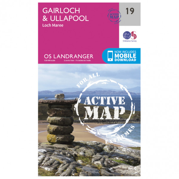 Ordnance Survey - Gairloch / Ullapool (Loch Maree) Waterproof - Hiking map