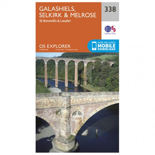 Ordnance Survey - Galashiels / Selkirk / Melrose - Vaelluskartat