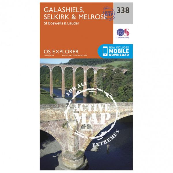 Ordnance Survey - Galashiels / Selkirk / Melrose Waterproof - Vandrekort