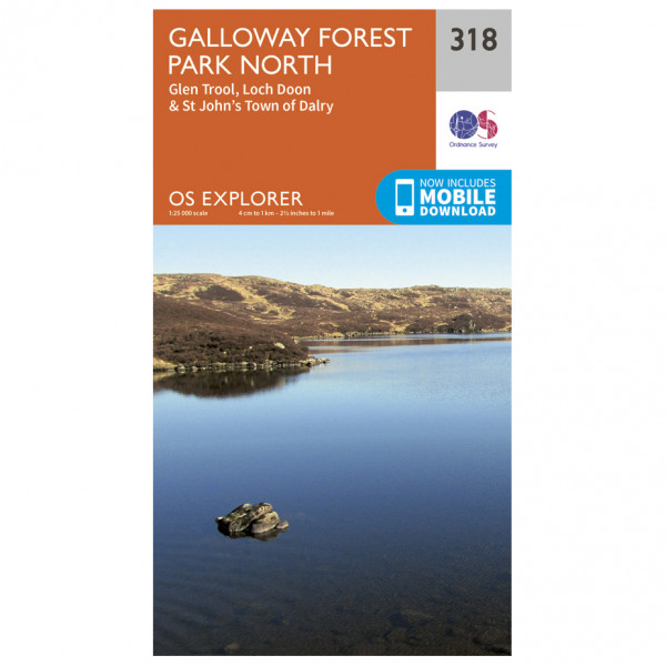 Ordnance Survey - Galloway Forest Park North - Hiking map