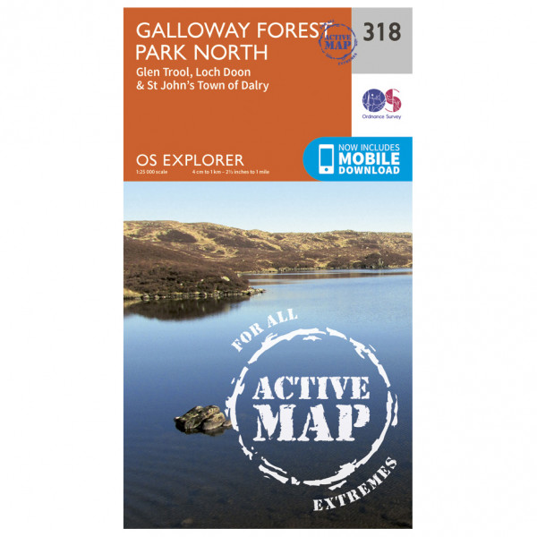 Ordnance Survey - Galloway Forest Park North Waterproof - Hiking map