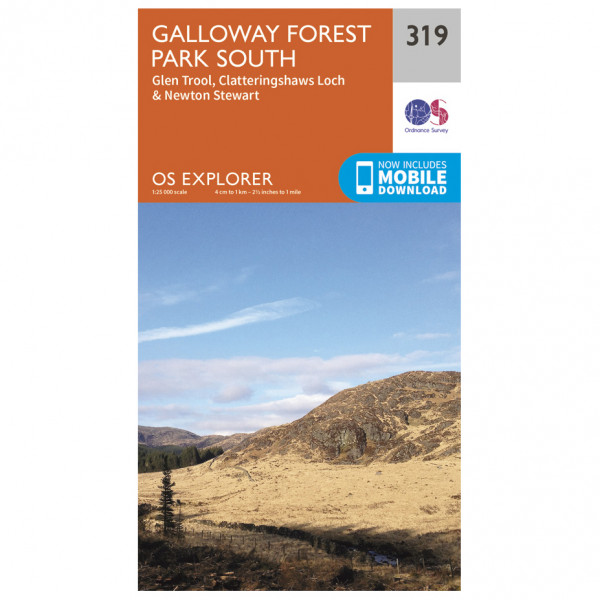 Ordnance Survey - Galloway Forest Park South - Hiking map