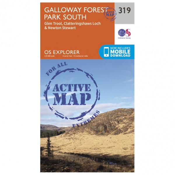 Ordnance Survey - Galloway Forest Park South Waterproof - Wandelkaart