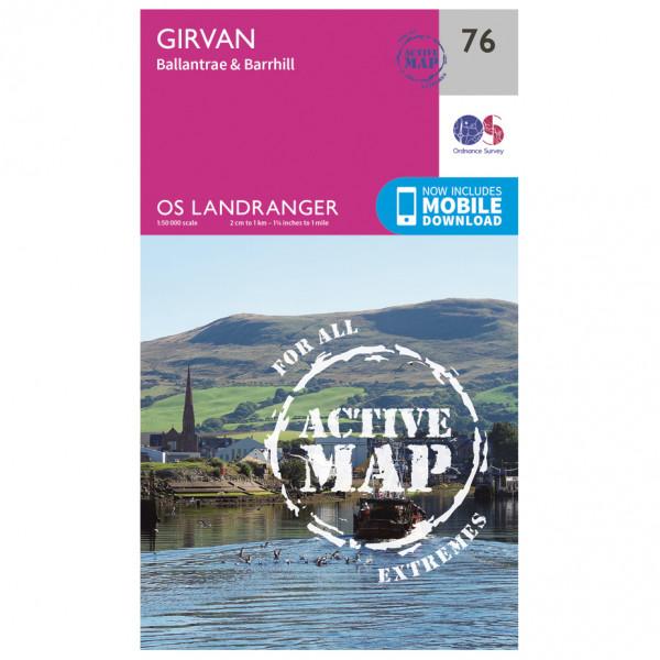 Ordnance Survey - Girvan Waterproof - Mapa de senderos